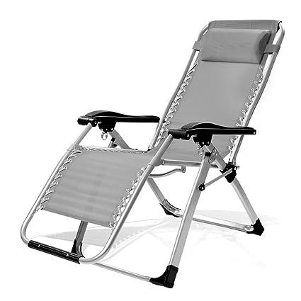 GFYWZ Silla Plegable para Tumbona con Reposacabezas para Patio De Playa Al Aire Libre Camping En