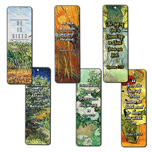 Bible Bookmarks Cards - Jesus has Risen (30 Pack) - John 3:16 Bookmarks for Christian Living Faith - Great Gifts for Easter Day, Thanksgiving, Christmas or Encouraging People for $<!--$8.99-->