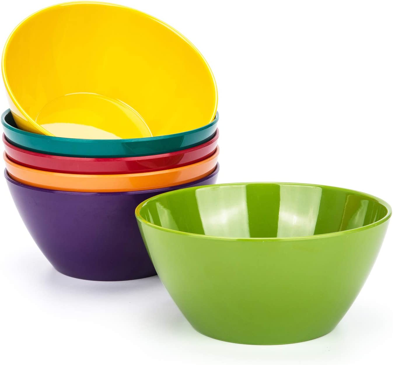 6Piece 6inch Round 100/% Melamine Salad Soup Cereal Bowl,Break-resistant,BPA Free