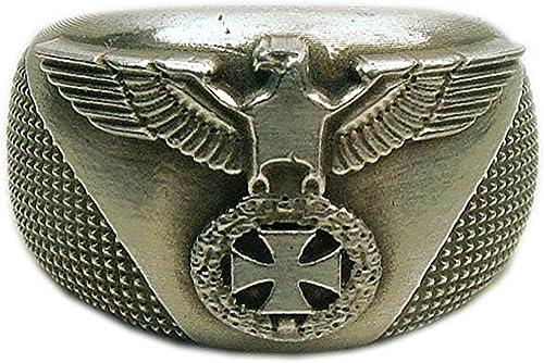MK-Art Militaria de alemán objetos militares de ejércitos Anillo con anillo EK Bike, Rocker, diseño de águila: Amazon.es: Joyería