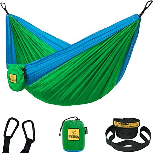Wise Owl Outfitters Kids Hammock for Camping The Owlet Kid Child Toddler or Gear Sling Hammocks – Perfect Small Size for Indoor Outdoor or Backyard – Portable Parachute Nylon – 3 Colors