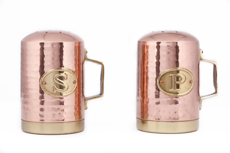 "Old Dutch International 833 Salt and Pepper Shaker Set 4¼"" H Copper"
