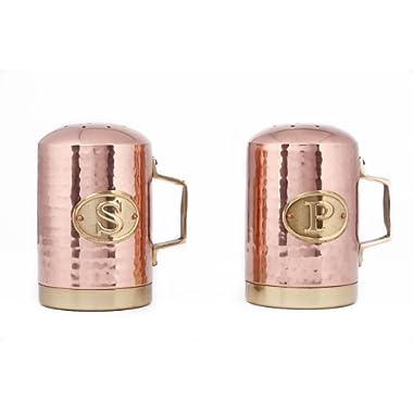 Old Dutch Hammered Copper Salt and Pepper Shaker Set, 4¼