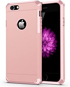 iPhone 6 / 6s Case, ImpactStrong Heavy Duty Dual Layer Protection Cover Heavy Duty Case for Apple iPhone 6 / 6s (Rose Pink)