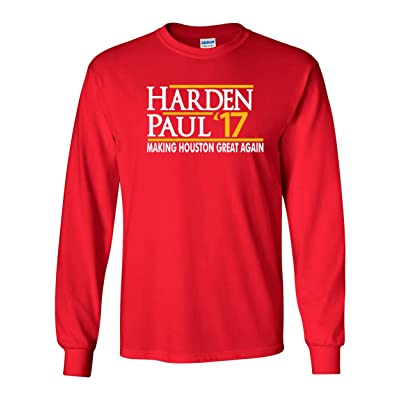 "The Silo LONG SLEEVE RED Houston Harden ""Harden Paul 17"" T-Shirt"