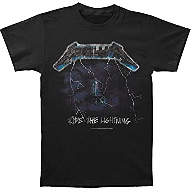 6ca4bde2264 Metallica Ride The Lightning Distressed Vintage Men s Black T-Shirt ...
