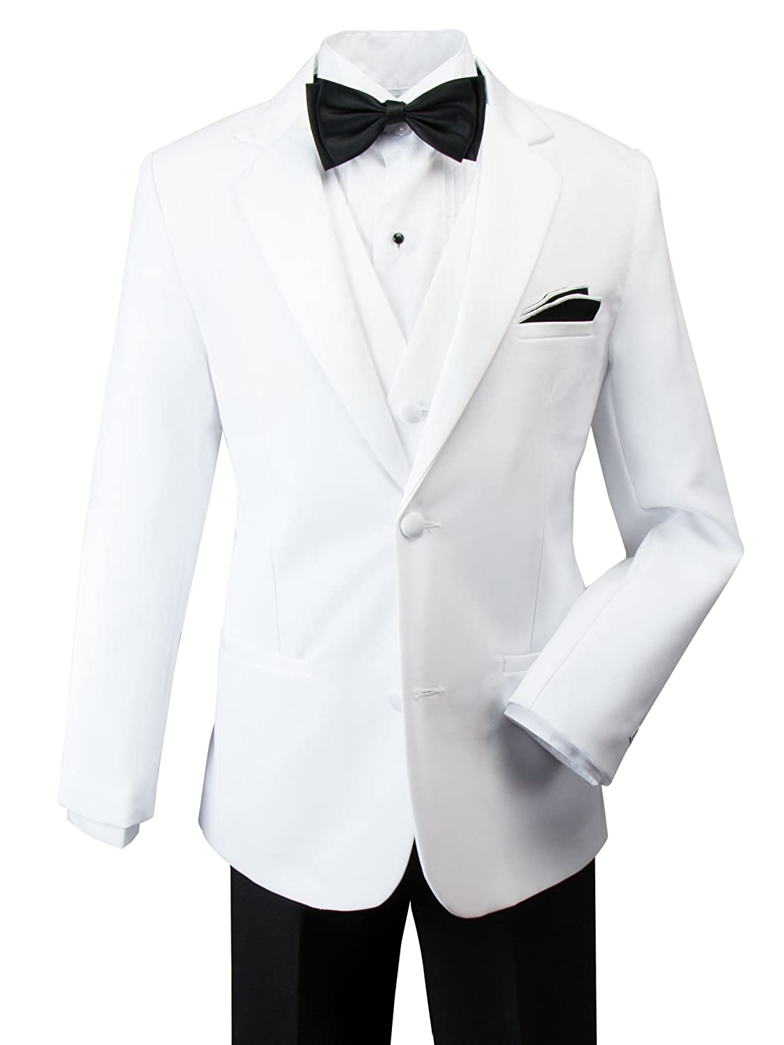 Spring Notion Little Boys' Modern Fit Tuxedo Set, No Tail ERF012-SNL-012