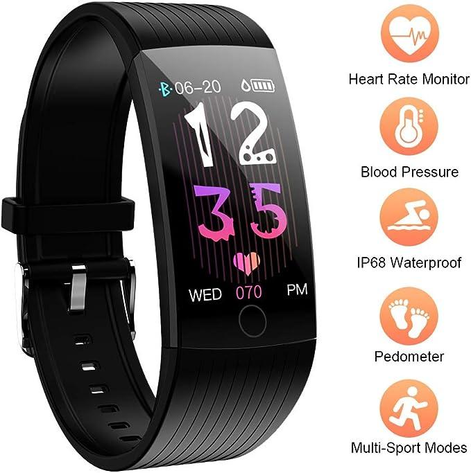 8 opinioni per Fitness Activity Tracker IP68, Orologio Fitness Braccialetto, Bluetooth Smart