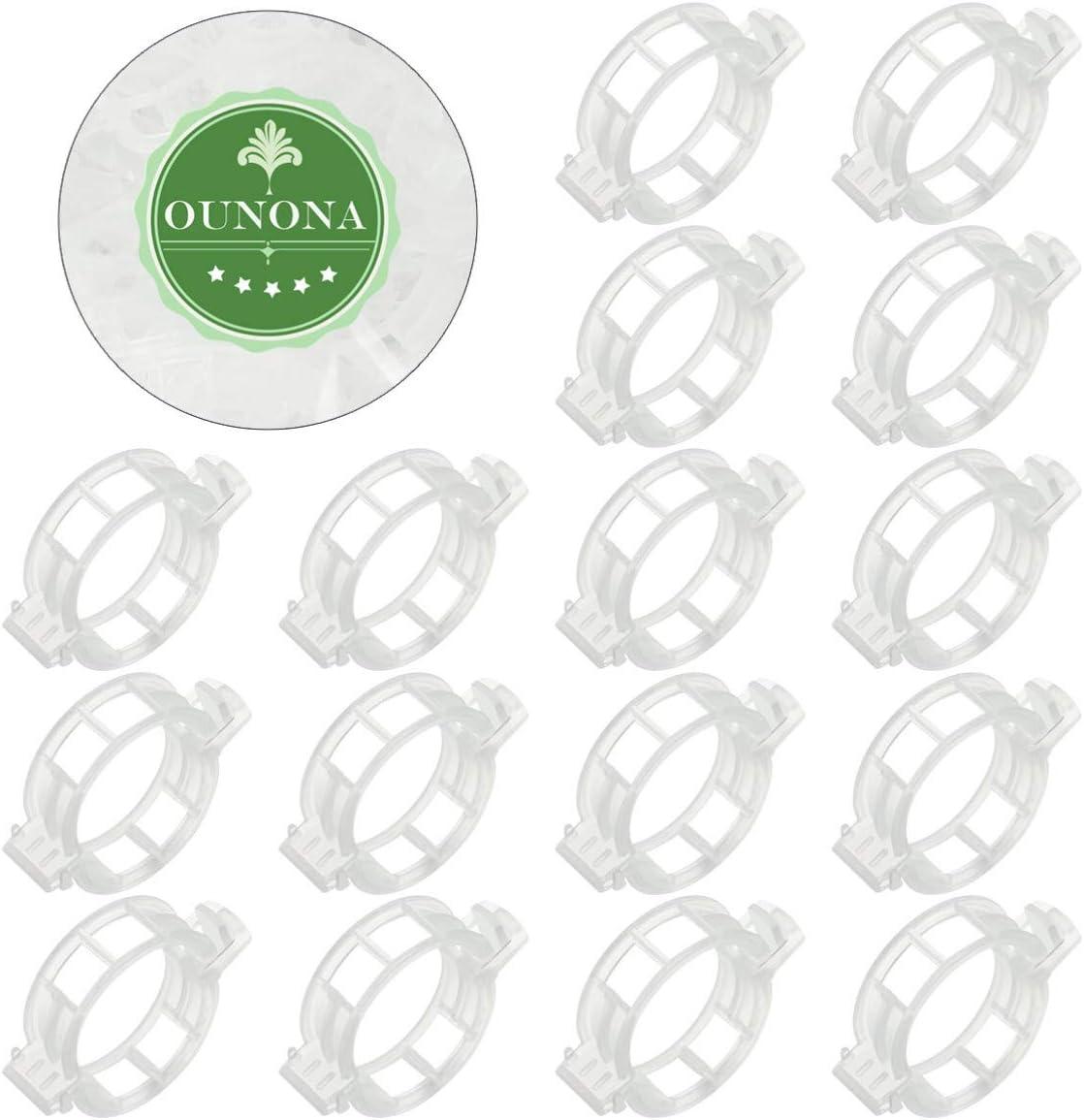 Yardwe 100pcs en Plastique Clip Plante Vigne legumes Support Clips Tomate Treillis Boucle pour Serre Jardin
