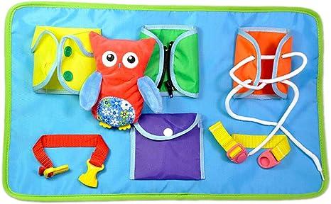 Schimer Juguete de Aprendizaje para bebé, con Lazo, con Cremallera ...