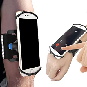 SPORTLINK Running Armband, Universal Detachable Sports Armband for iPhone 11/11 Pro/11 Pro Max/7/7 Plus/8/8 Plus/X/XR/XS/Xs Max, Galaxy S10/S10+/S9/S8/S7, Quick Mount Phone Arm Band Holder