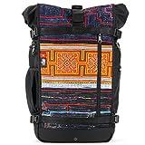 Ethnotek Raja Travel Backpack for Women| Hand Woven Fabric | Vietnam 6
