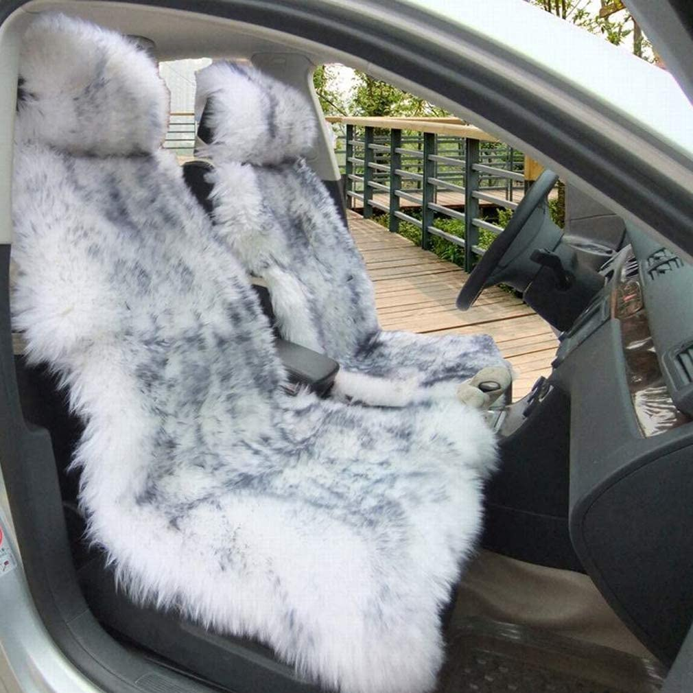 Truck Gracefur 100/% Australia Sheepskin Car Seat Covers Luxury Long Wool Front Seat Cover Fits Most Car or Van 1 Piece SUV White