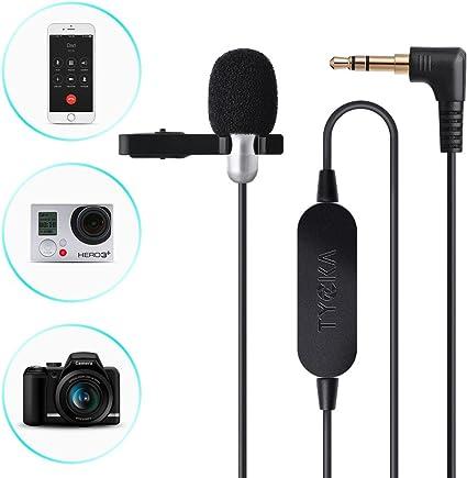 TYCKA Micrófono Lavalier de 6 m mejorado; con amplificador de ...