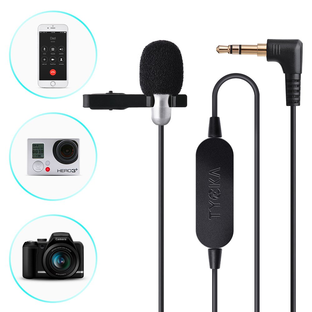 Tycka Microfono Lavalier Actualizado De 6 M Con Amplificador De Audio Mejorado, Microfono Lavalier De 3.5 Mm Con Clip Pa