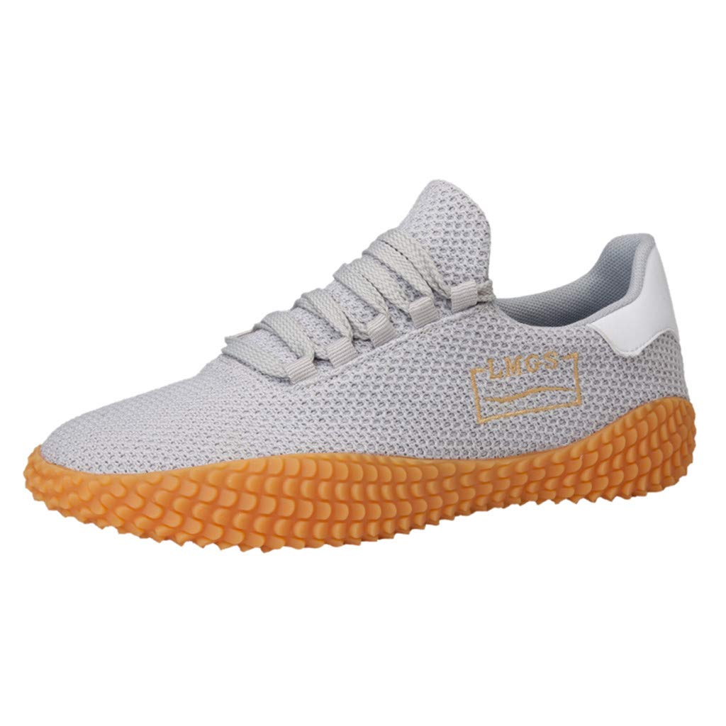 Lloopyting Mens Soft Breathable Mesh Walking Shoes Lightweight Non-Slip Gym Athletic Sneakers Air Cushion Tennis Shoes