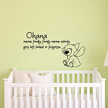 Amazon Com Ohana Family Quotes Inspired Wall Decal Ohana Means