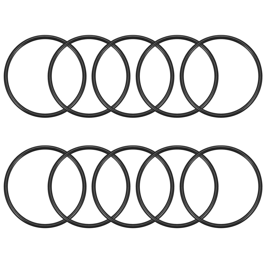 Pack of 10 uxcell O-Rings Nitrile Rubber 40mm OD 32mm Inner Diameter 4mm Width,Round Seal Gasket