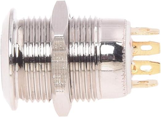 Toogoo R 2a 3v Drucktaster Taster Druckschalter 12mm Vernickelt Messing Klingeltaster Auto