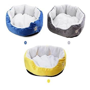 Pet Online Cama del perro mascota cama súper suave paño mascota perro gato pequeño cama supletoria, amarillo: Amazon.es: Productos para mascotas