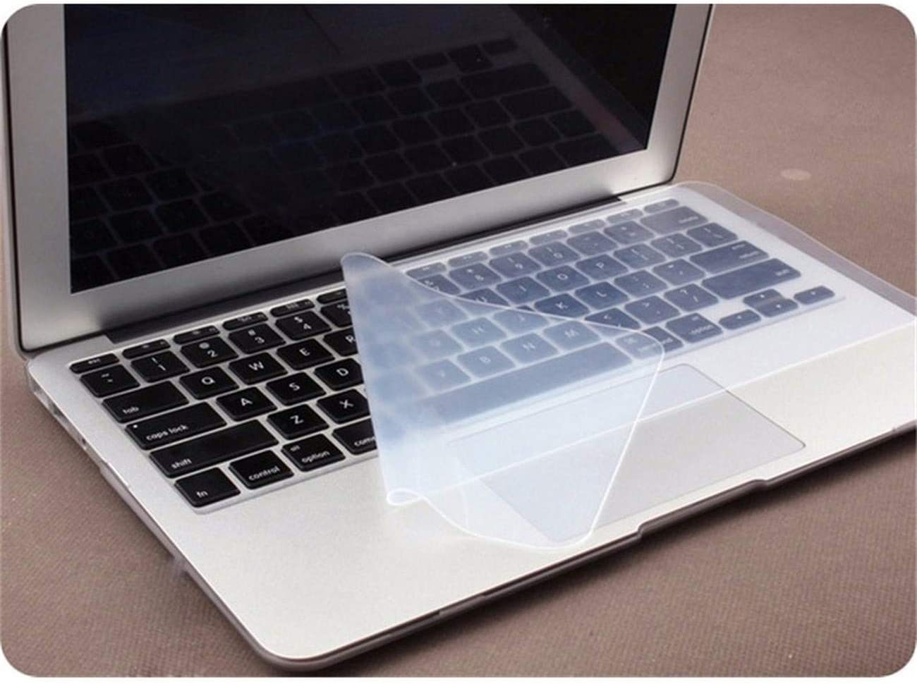 Anti Dust and Waterproof Keyboard Cover Universal Soft Silicone Protector Film for MacBook Pro 15 17 Inch Laptop Notebook,1 Piece