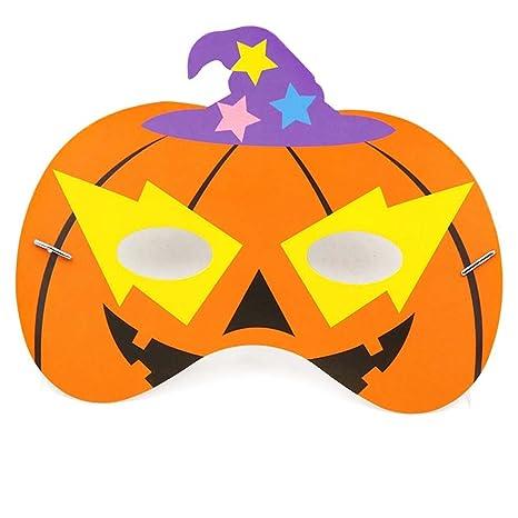 Westeng Papel Máscara de Fiesta Máscara de Halloween Kawaii Patrón de Dibujos Animados Fiesta Decoraciones para