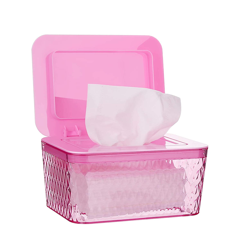 Brown Large Capacity Wipes Dispenser Wipes Case Keep Diaper Wipes Fresh Dustproof Wipes Box with Lid Whiidoom Wipes Holders