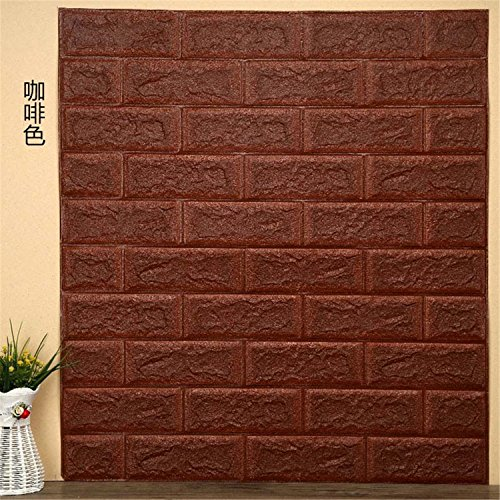 Wallpaper DIY Brick Living RoomTV Kids Safty BedroomWarm Home waterproof Decor Wall Sticker - Wallpaper Kmart