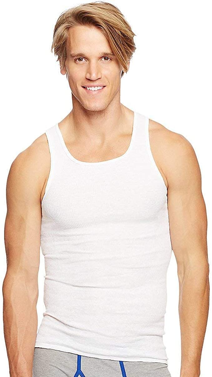 Hanes Mens Tall 8-Pack Big Comfort Soft A-Shirt Tank Hanes Men/'s Underwear