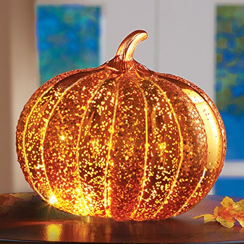 Collections Etc LED Light Up Decorative Pumpkin by Collections Etc (Image #1)