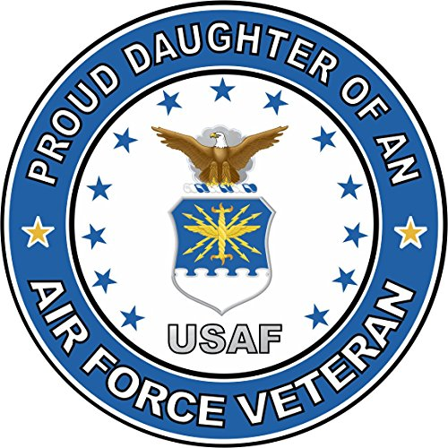 (US Air Force Veteran Proud Daughter Decal Military Veteran Served Window Bumper Sticker Vinyl Decal 3.8