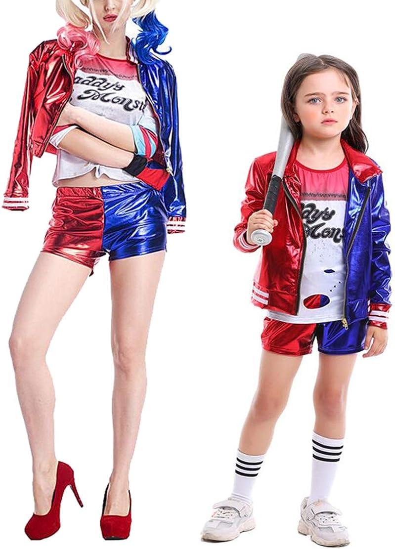 Hivia Disfraz de Joker Mujer Niñas Harley Quinn Chaquetas ...