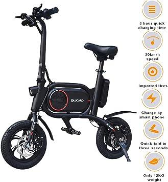 0BEST Bicicleta Electrica 36V Plegable, E-Bike 12, Actualizar Bici ...