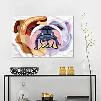 Amazon Com One1love English Bulldog Custom Oil Painting