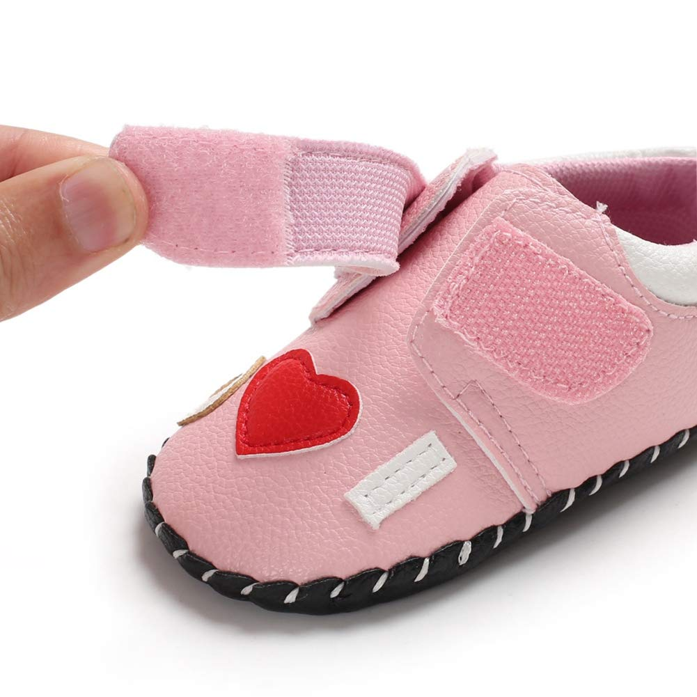 Baby Girls Toddler Infant First Walkers Spring Soft Sole Non-Slip PU Princess Casual Flower Shoes