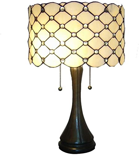 Whse of Tiffany TF7048TL Tiffany Style Jeweled Table Lamp, Bronze