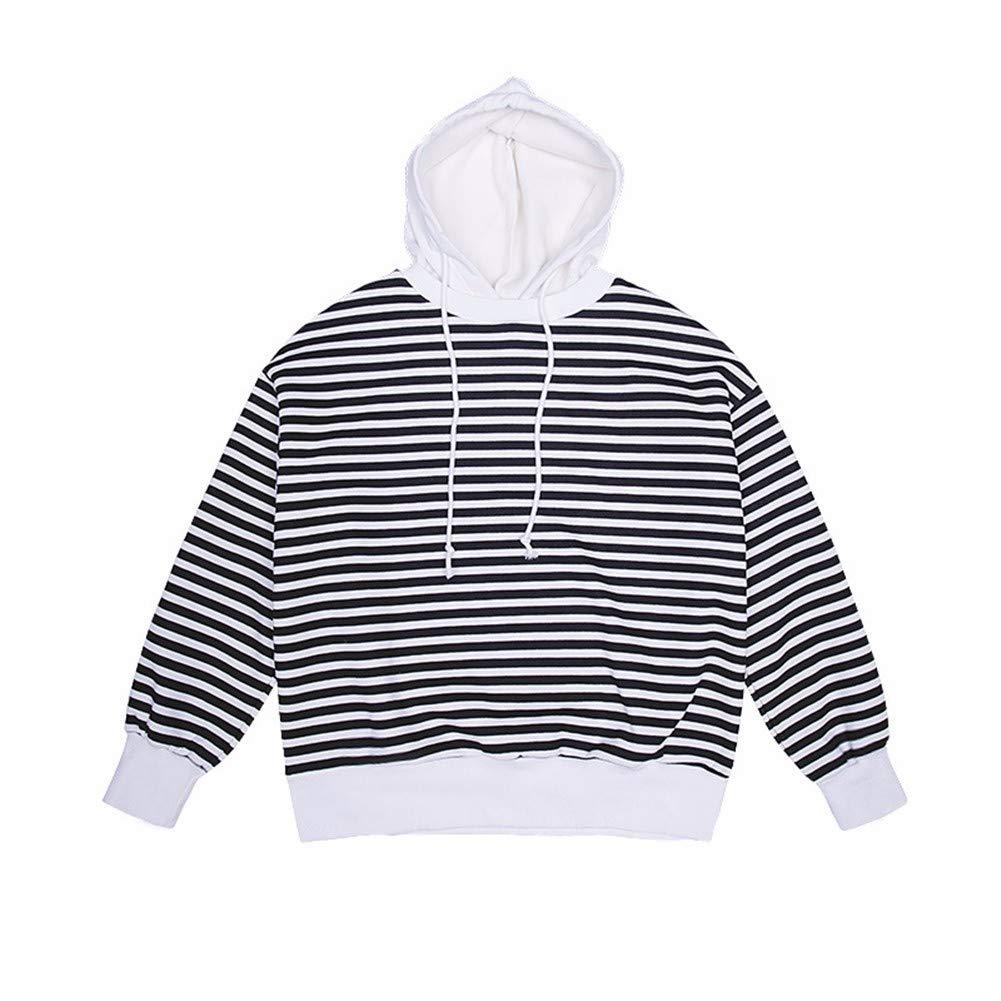 Lxj Sweater Frauenkleidung 2018 Herbst Ulzzang Pullover Weibliche Kapuzen-Lazy Wind Langarm Gestreiften Student Pullover Flut W-032