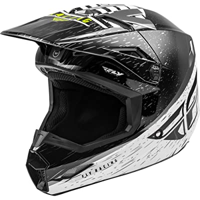 Fly Racing 2020 Youth Kinetic Helmet - K120 (Small) (Black/White/HI-VIZ): Automotive