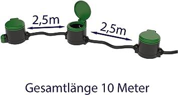 Jardín Cable alargador 10 metros + Jardín enchufe con sensor ...