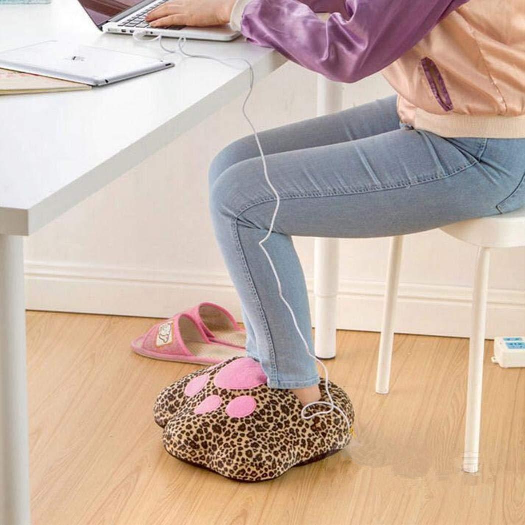 pairris Calzature riscaldanti Plug-in USB Peluche Vita e Piedi Caldi elettrici Invernali Scaldamani