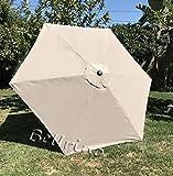 umbrella replacement cover - BELLRINO DECOR Replacement LIGHT COFFEE / TAN
