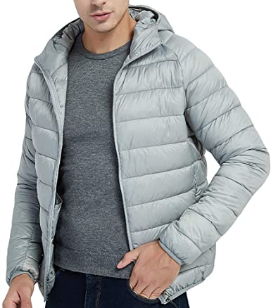 : Pandaie Mens Product Down Jacket Men with Hoodie
