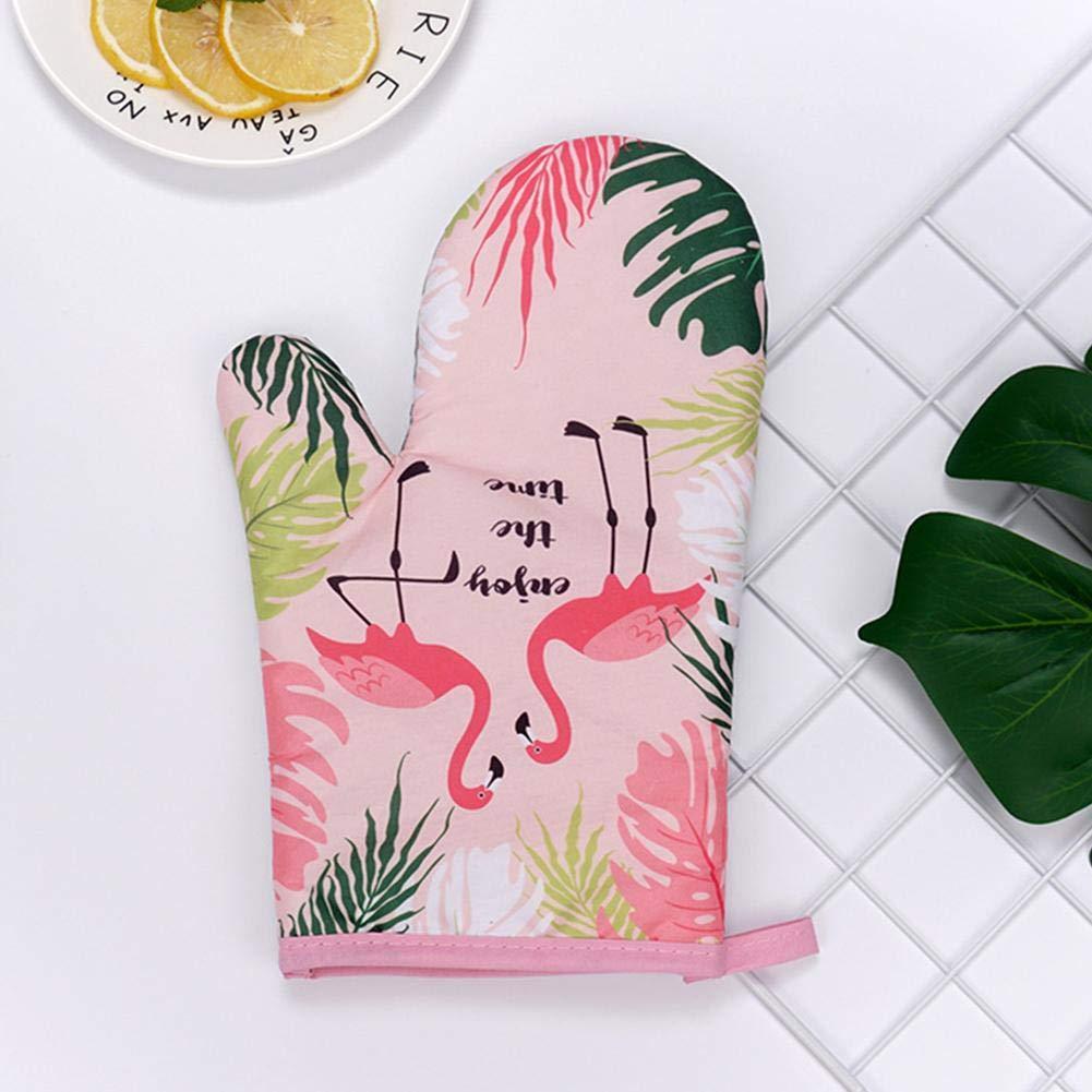 Muster K/üche Pad Kochen Mikrowellen-Handschuhe Backen BBQ Topflappen Ofenhandschuhe K/üchenhandschuhe Von Sommers Laden 2-teiliges Baumwolle Hitzebest/ändige Handschuhe Fashion Flamingo