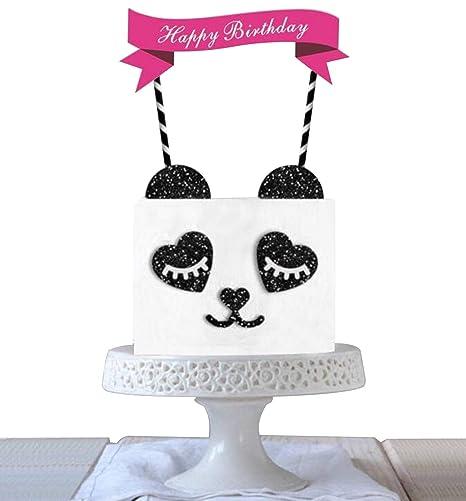 Amazon.com: Maydolbone Decoración de Panda para Pastel de ...