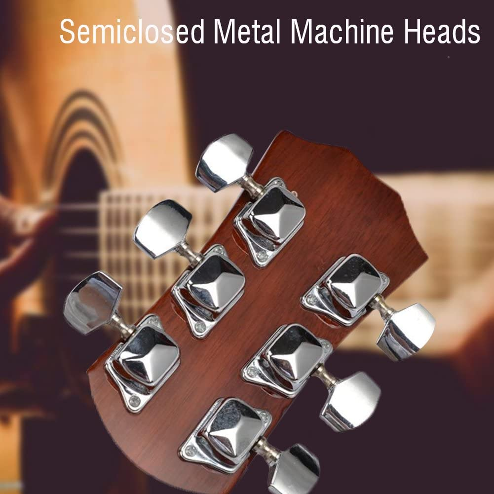 Acoustic Guitar Tuning Pegs 3R 3L Guitar String Chrome Tuning Pegs Tuners Machine Heads for Guitar Parts