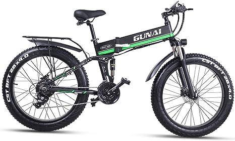 GUNAI Bicicleta de Neumático Gordo 48V 1000W para Hombre ...