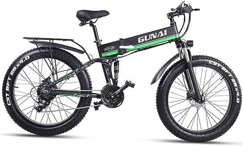 GUNAI Bicicleta de Neumático Gordo 48V 1000W para Hombre Montaña ...