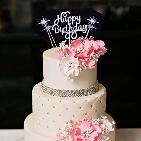 Remarkable Cake Toppers New Happy Birthday Gold Cake Topper Glitter Bling Birthday Cards Printable Inklcafe Filternl