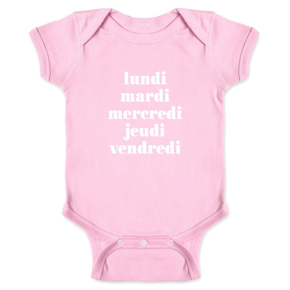 Pop Threads Days of The Week in French Infant Bodysuit