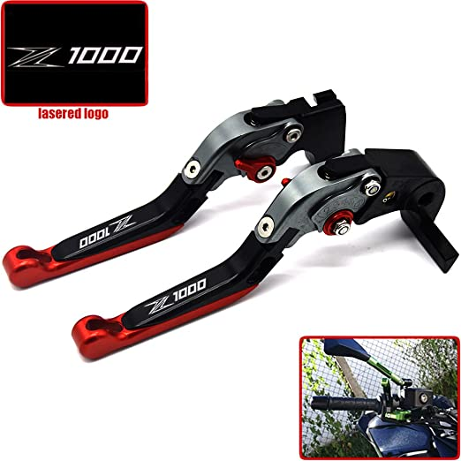 Z1000 Laser Logo Titanium Motorcycle Brake Clutch Levers For kawasaki Z1000 2007 2008 2009 2010 2011 2012 2013 2014 2015 2016
